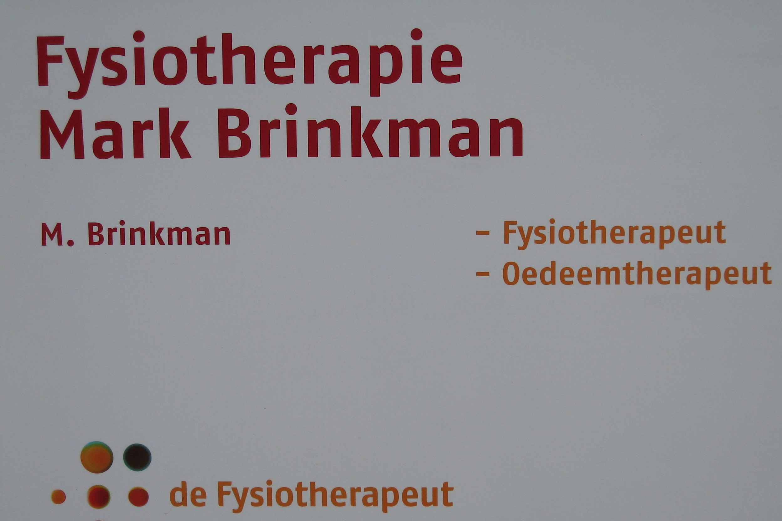 Fysiotherapie en Oedeemfysiotherapie Mark Brinkman
